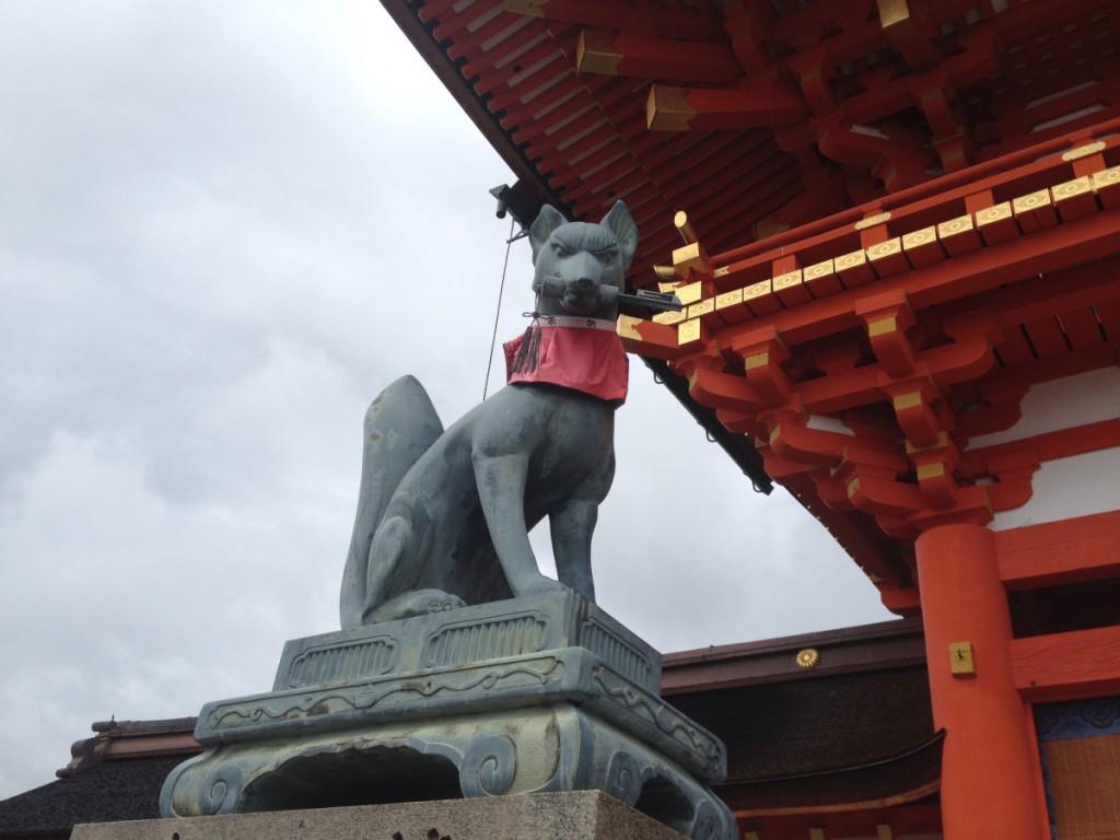 Inari shrine kyoto fox