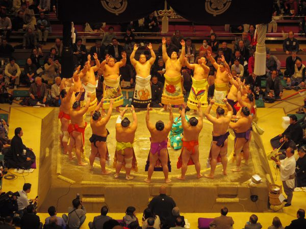 Grand Sumo Tournament - ring ceremony