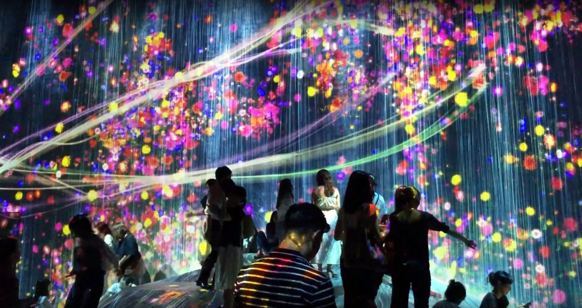 Mori Building Digital Art Museum TeamLab Borderless Tokyo, Odaiba, Gundam, Tokyo Bay, Family Friendly Destination in Japan