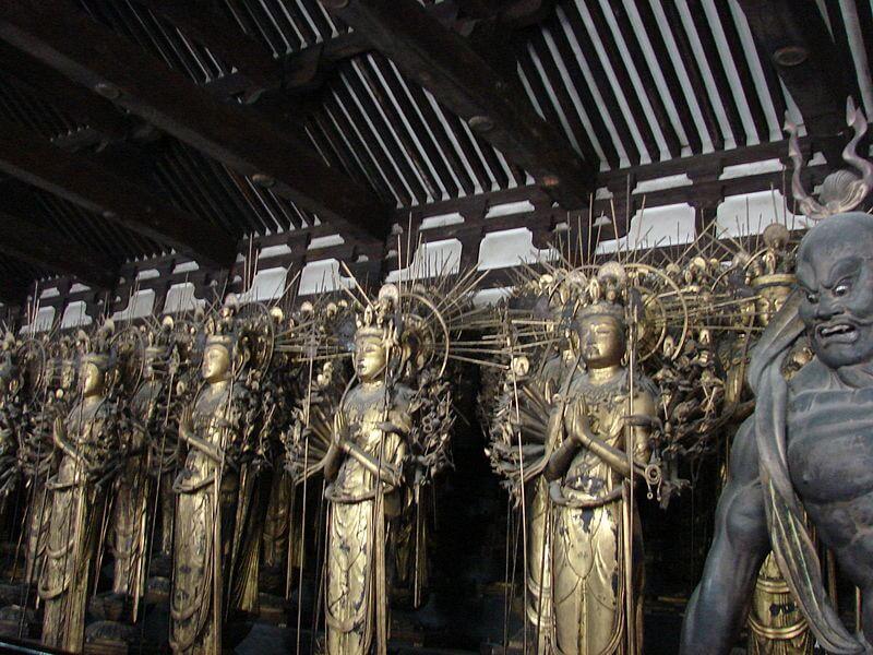 Buddha statues Sanjusangendo Temple (Rengeo-in)