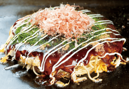 okonomiyaki Japanese food