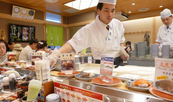 Conveyor belt Sushi no Musashi