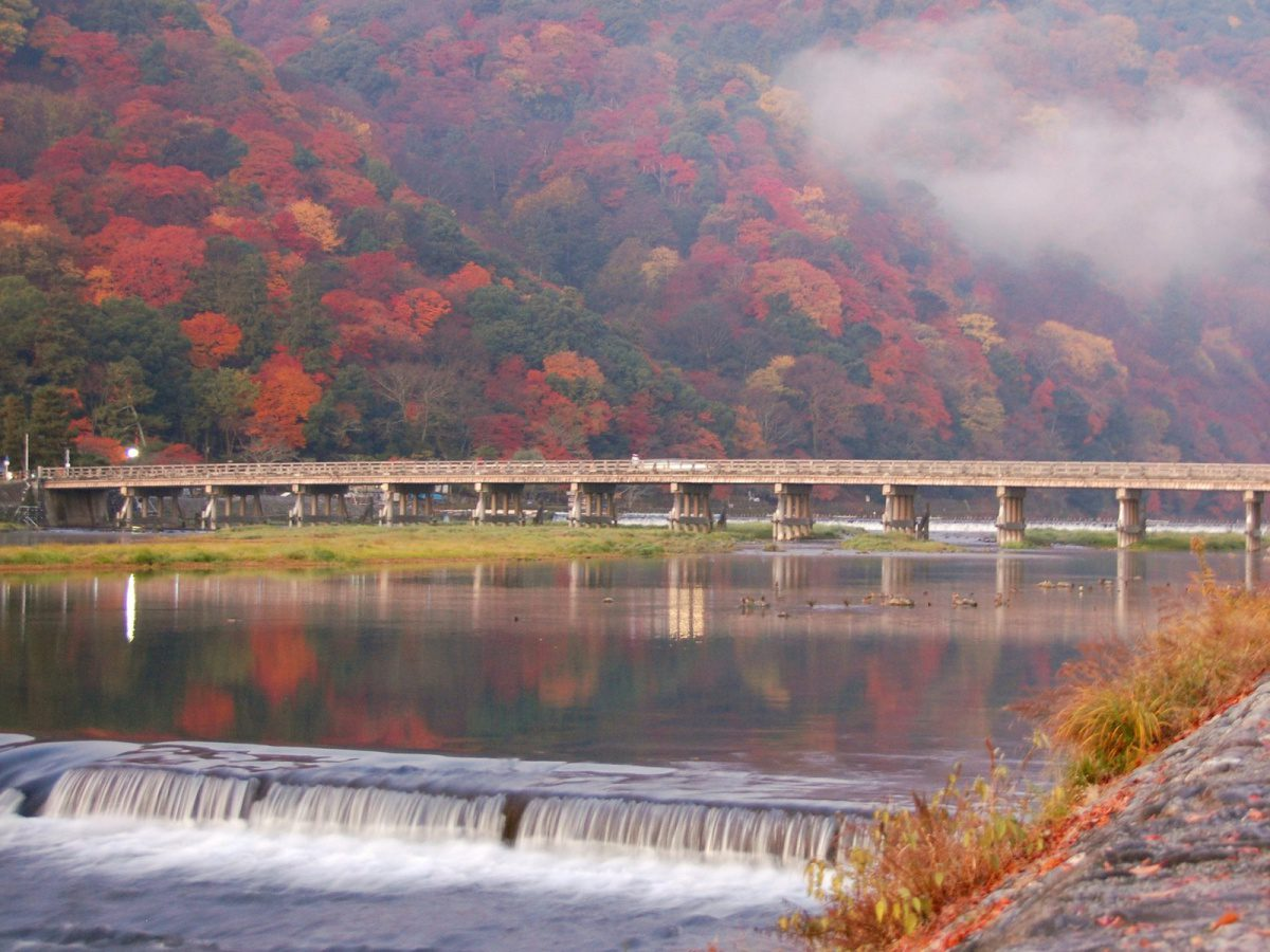 Togetsu Bridge, Autumn Foliage, Arashiyama, Hozu River, Katsura River, Kyoto, Family Friendly Itinerary in Japan