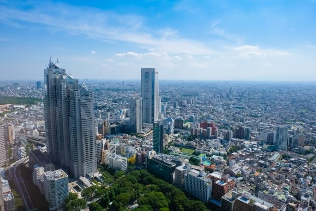 View from Tokyo Metropolitan Government Office observation deck Shinjuku