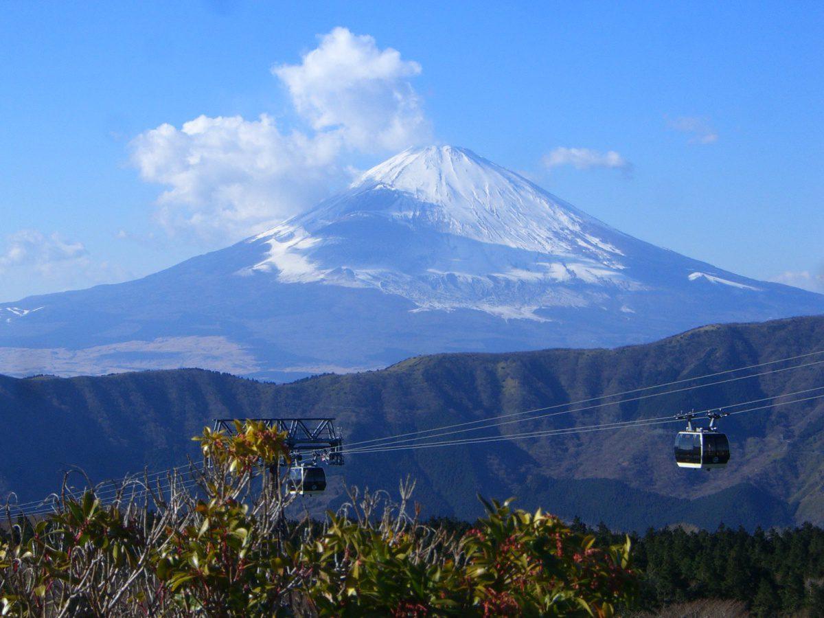 Mount Fuji from Owakudani Cable Car