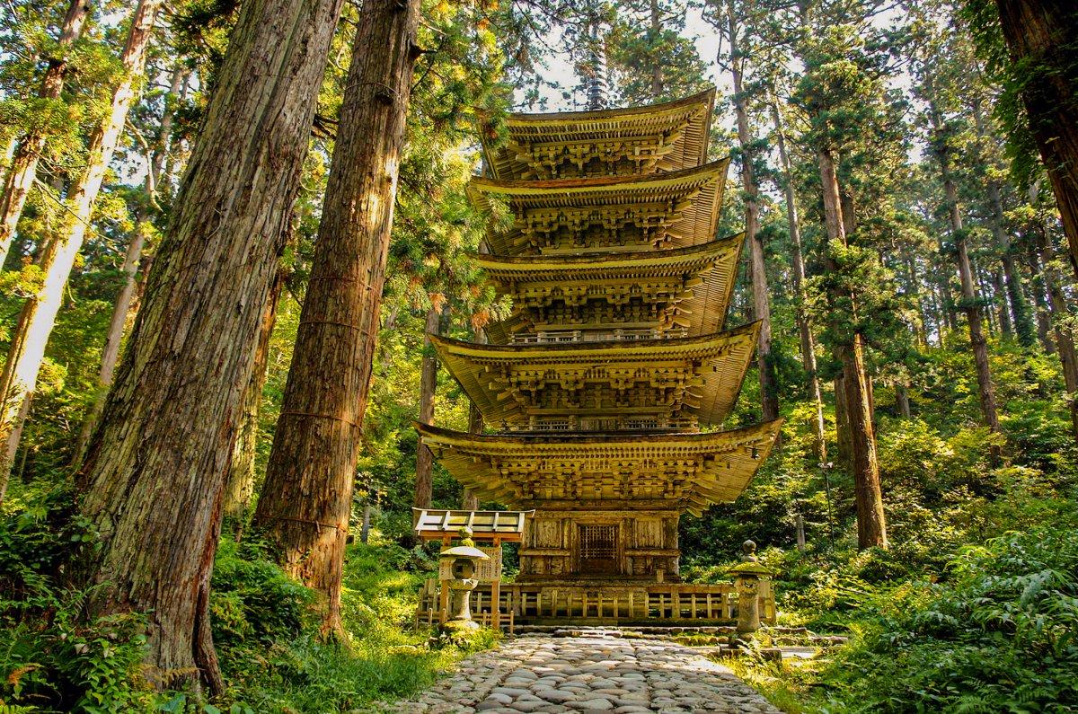 five-story pagoda Mt. Haguro