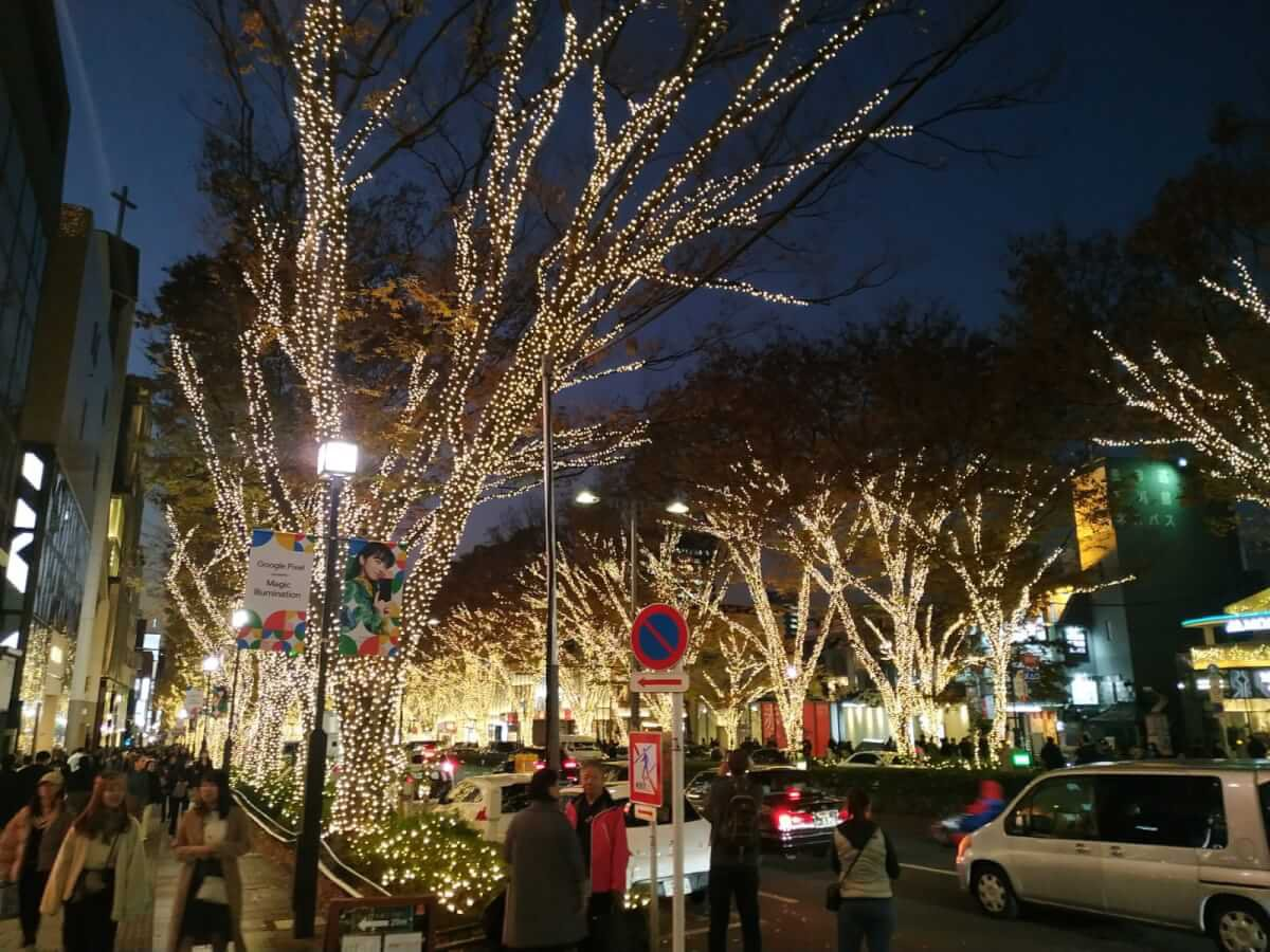 Omotesando Chrismas lights
