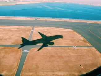 Airplane-taking-of-shadow