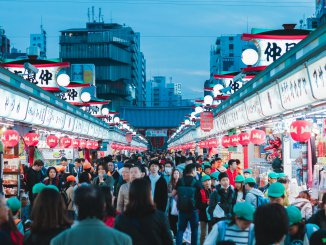 Crowds of people Tokyo