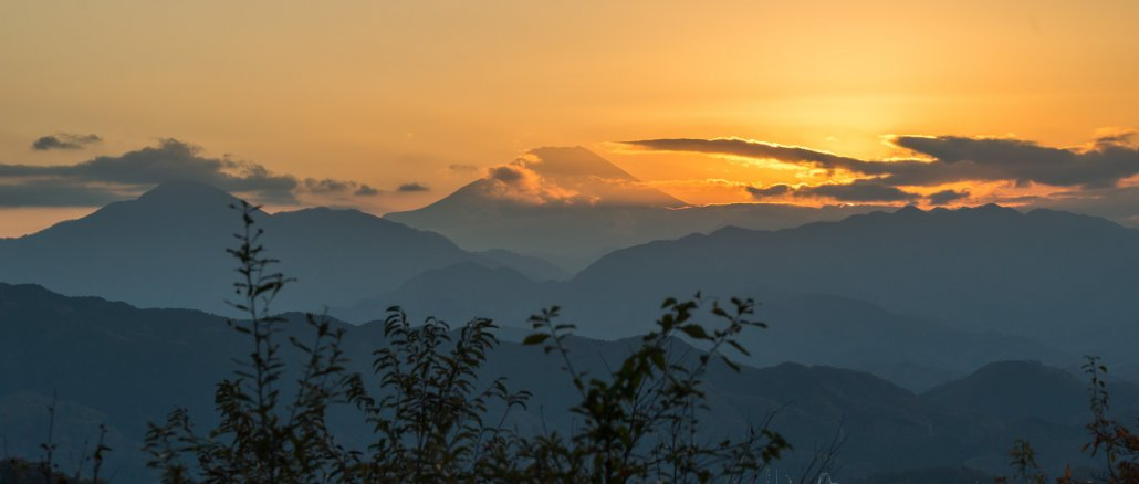 Mount Fuji from mount Takao