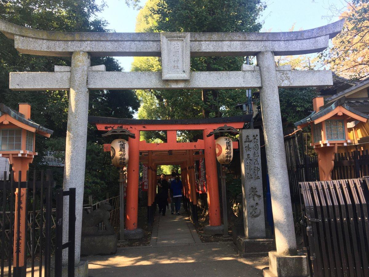 Torii Hanazono Inari Shrine Ueno