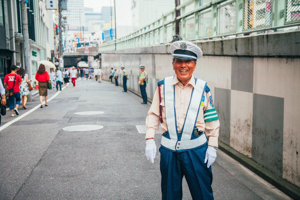 Smiling guard Okinawa
