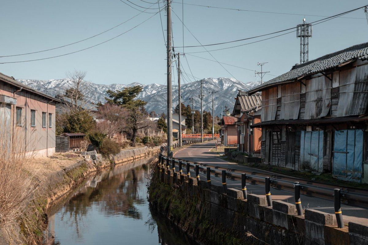 Niigata, Hyōko Lake, Agano, mountains
