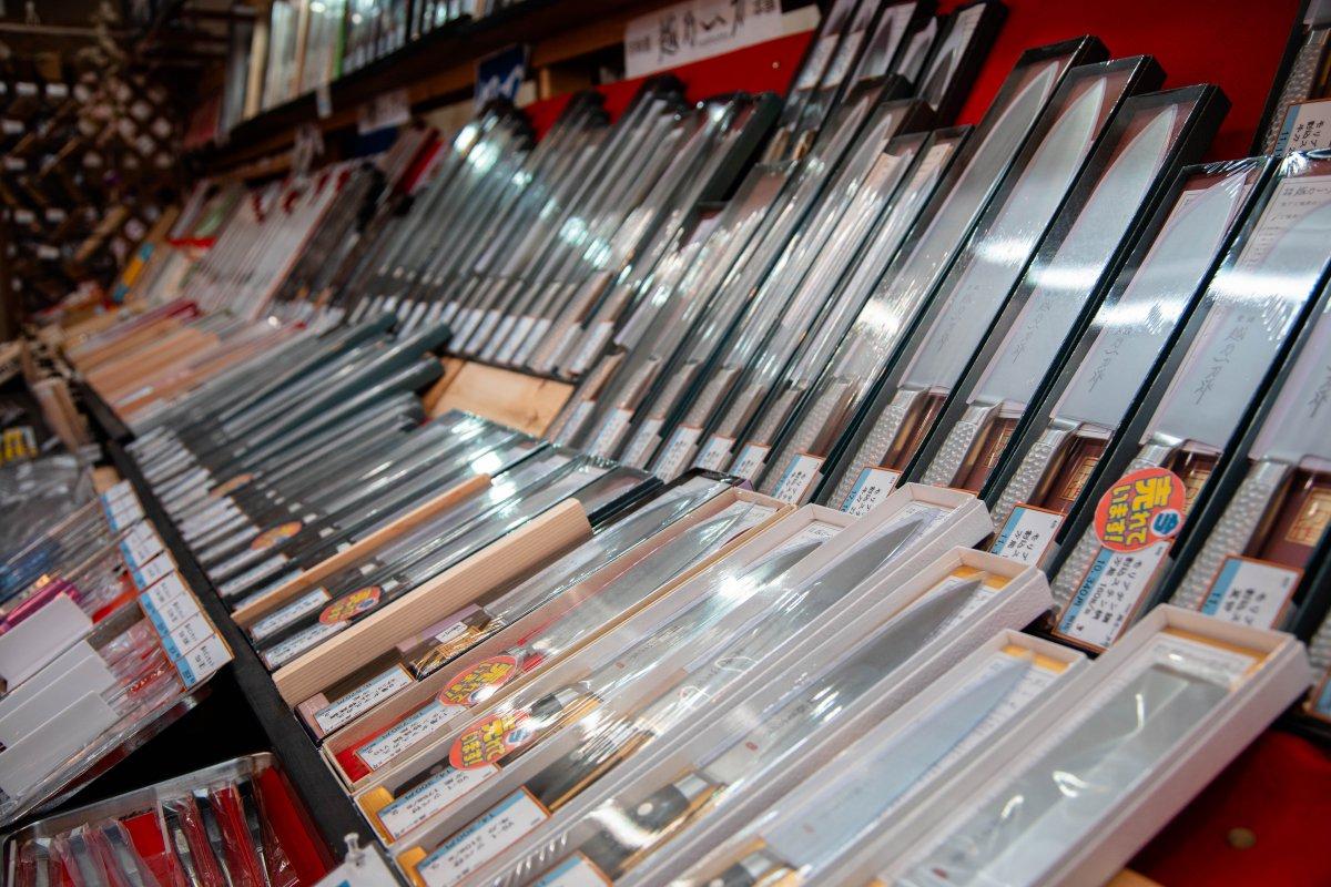 Niigata, knife store