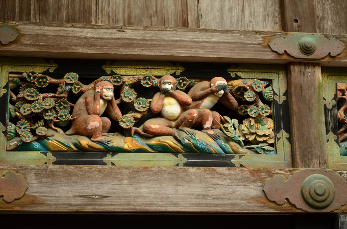 Toshogu shrine Nikko Three Monkeys