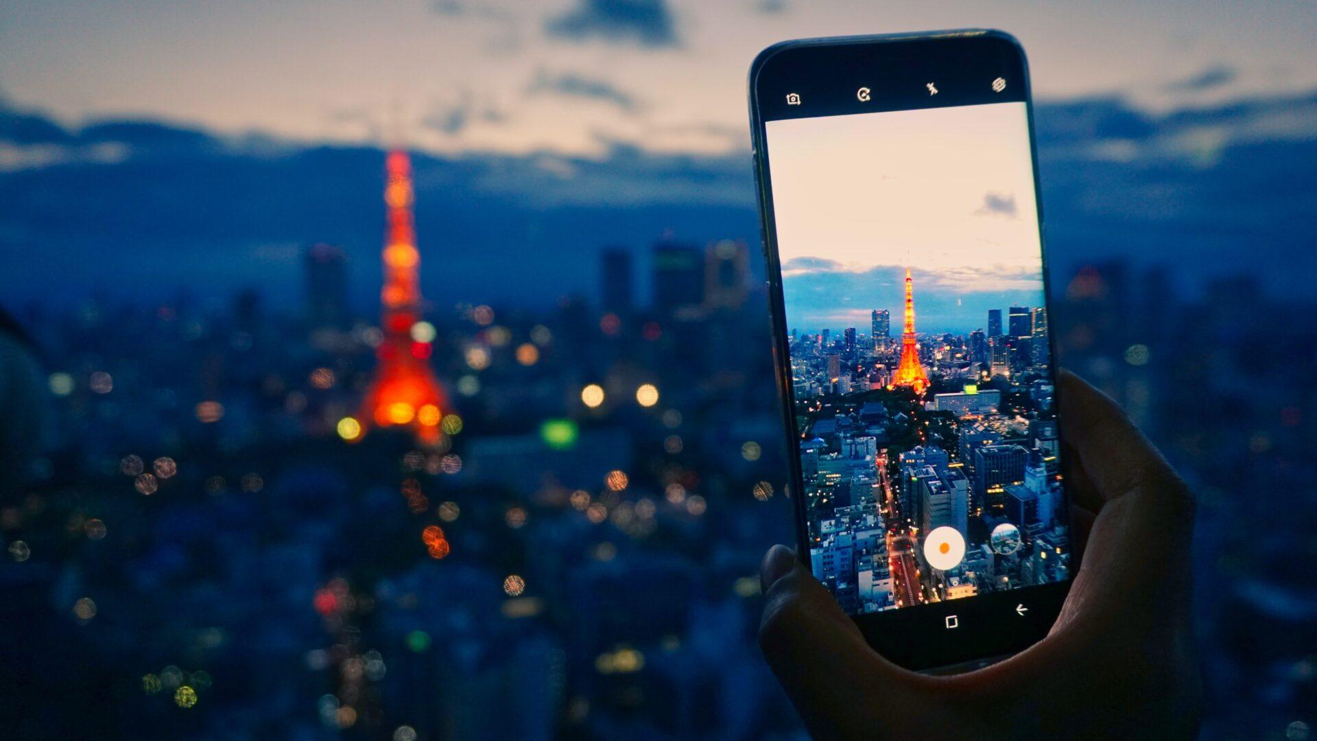 tokyo tower tokyo at night