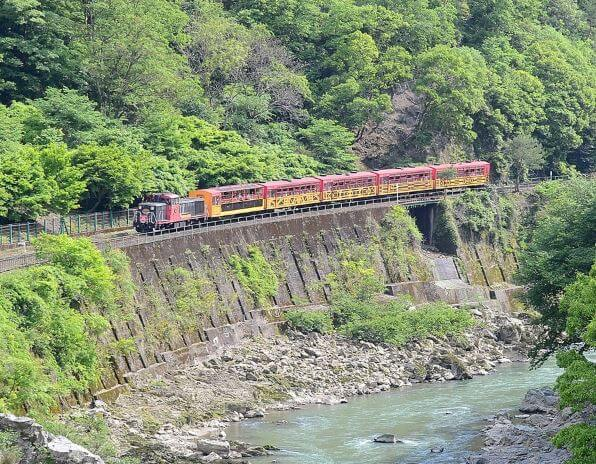 Sagano Scenic Railway, Sagano Romantic Train, Sagano Torokko, Arashiyama, Kameoka, Kyoto, Hozu River, Family Friendly Itinerary in Japan, Kids Activity