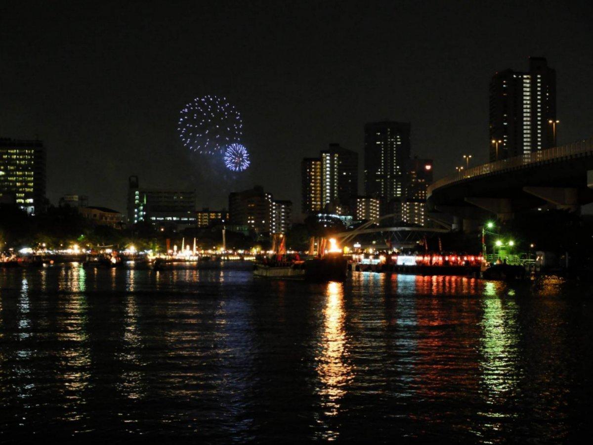 Tenjin festival Fireworks Osaka