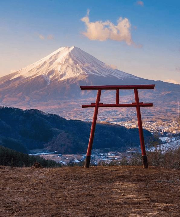 Kawaguchiko Asama Shrine Mount Fuji