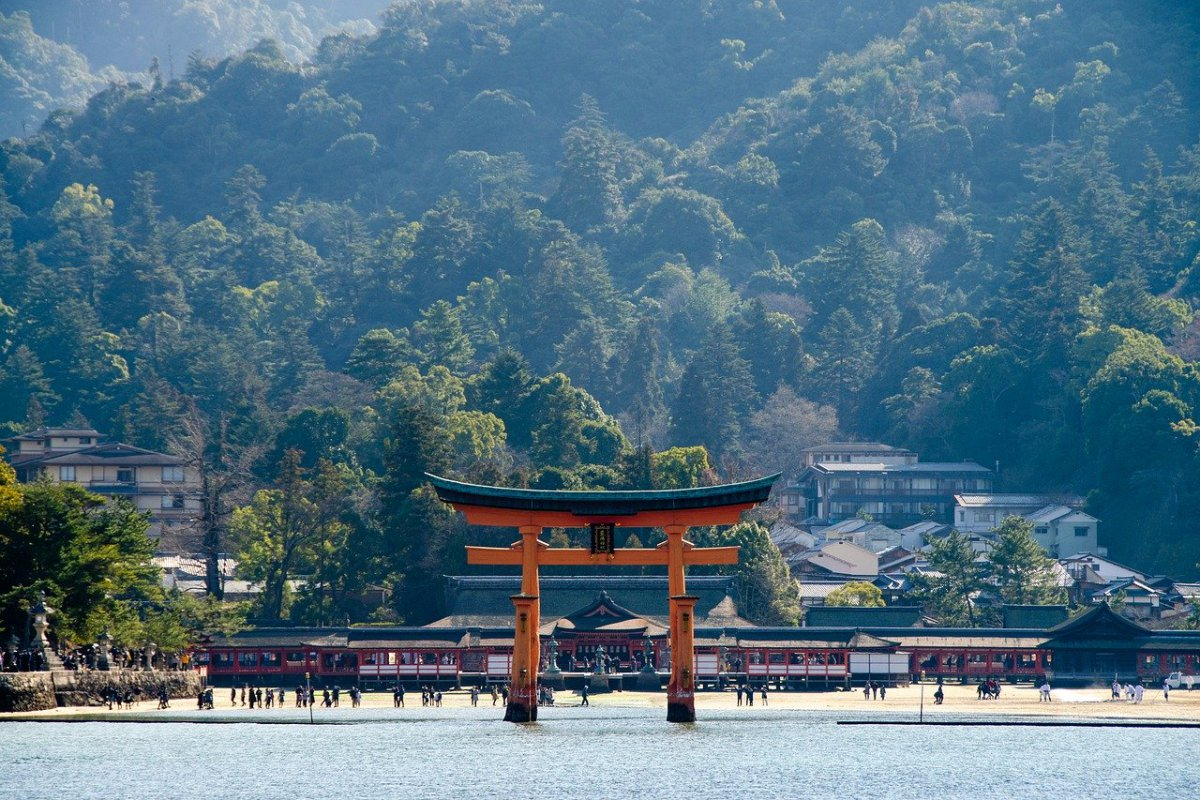 Itsukushima Shrine, in Miyajima Island. Hiroshima, Japan