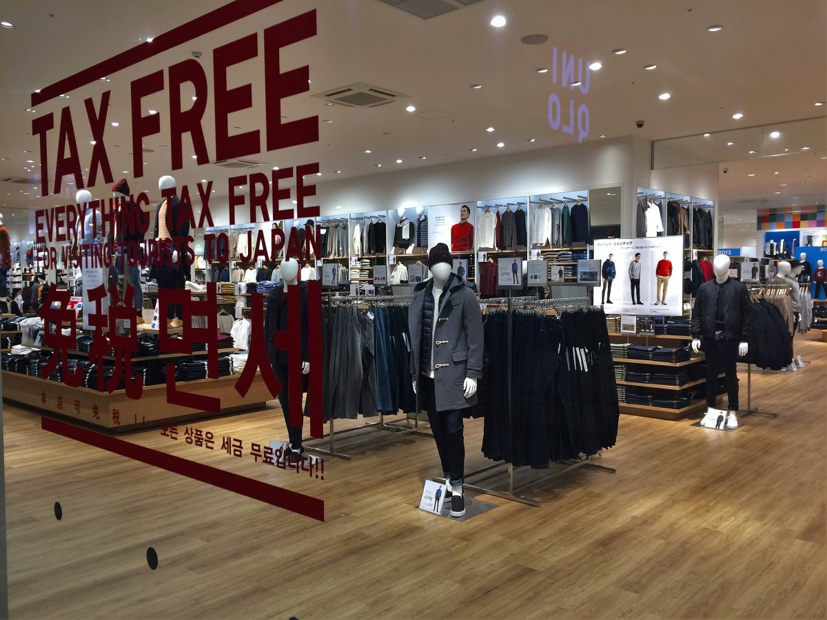 Uniqlo shopping tax free