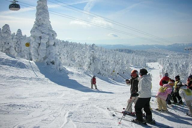 Zao Onsen Skiing
