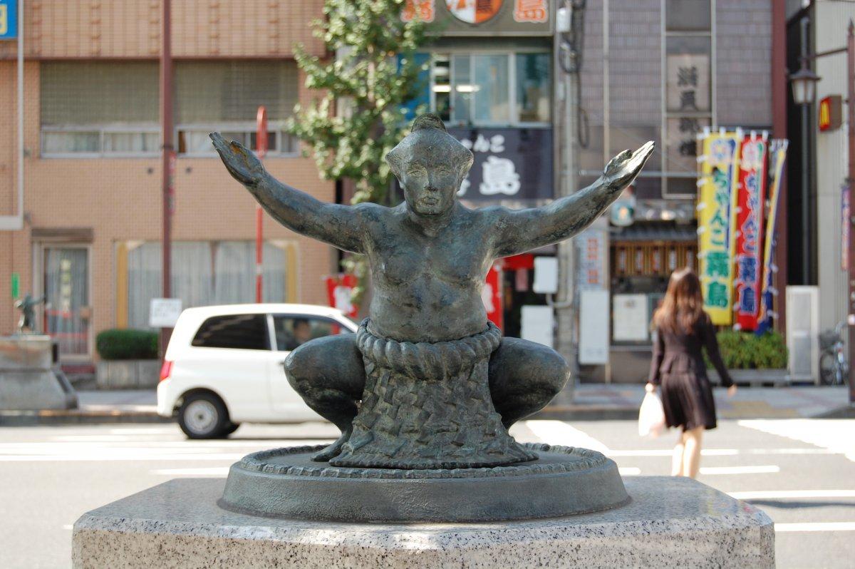 Ryogoku Sumo statue