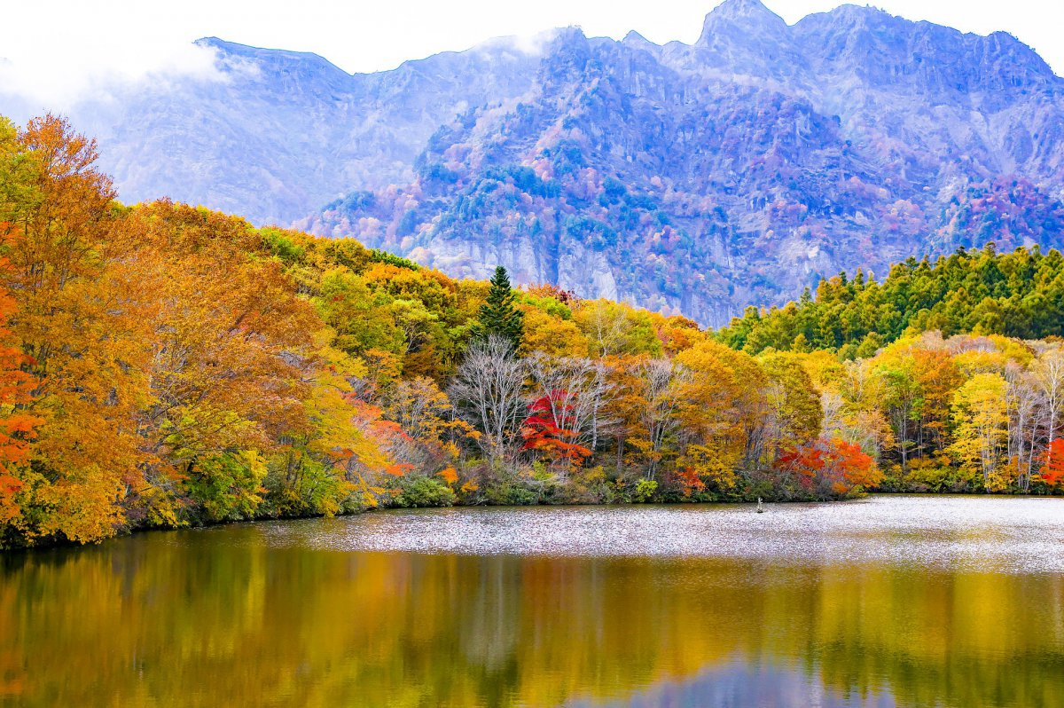 Japanese alps autumn