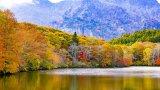Japanese alps autumn