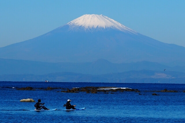 kayaking around mount Fuji