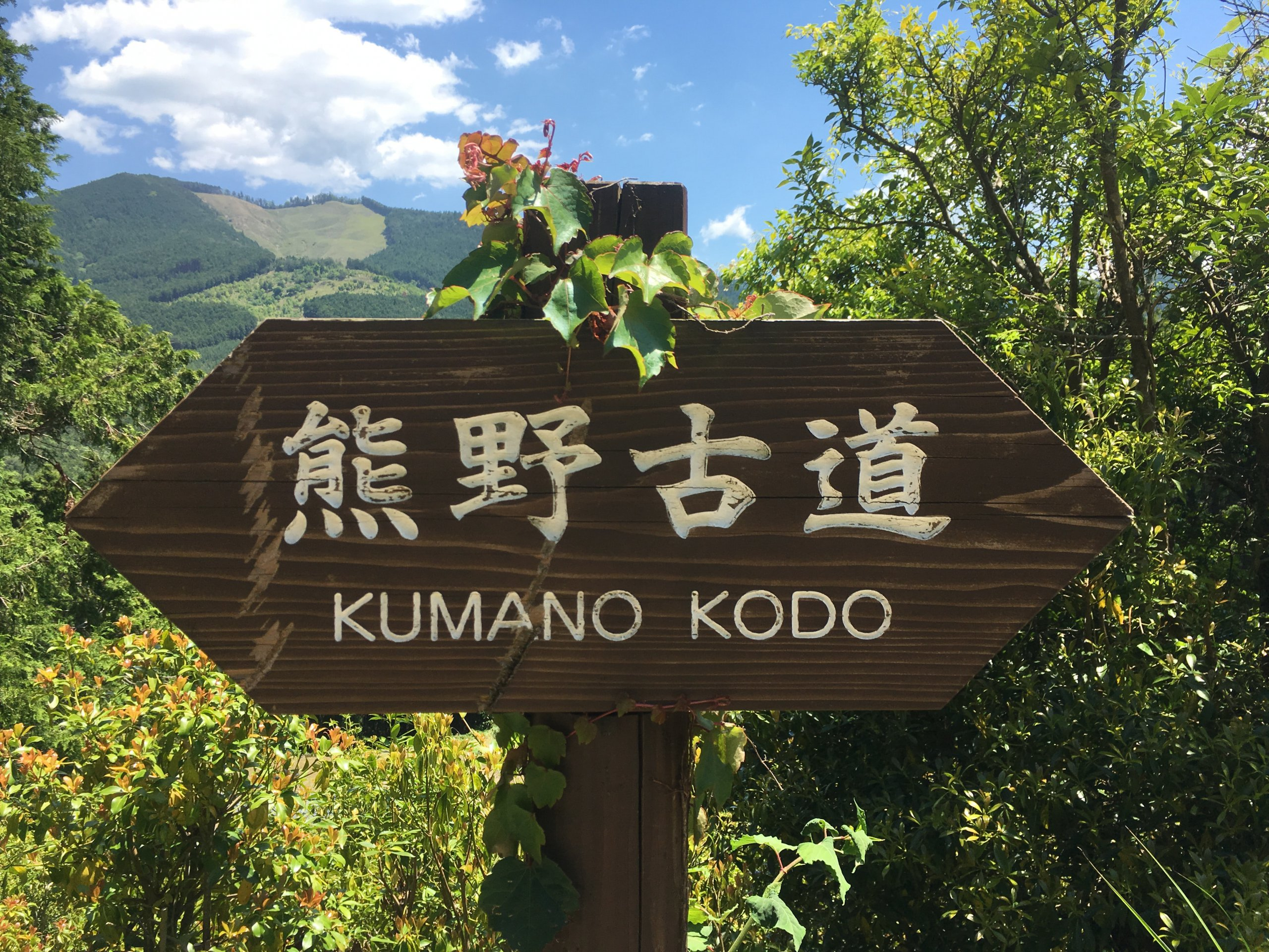 Kumano kodo signage