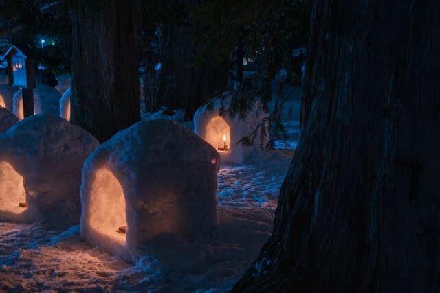 Hirosaki Castle Snow Lantern Festival, Aomori