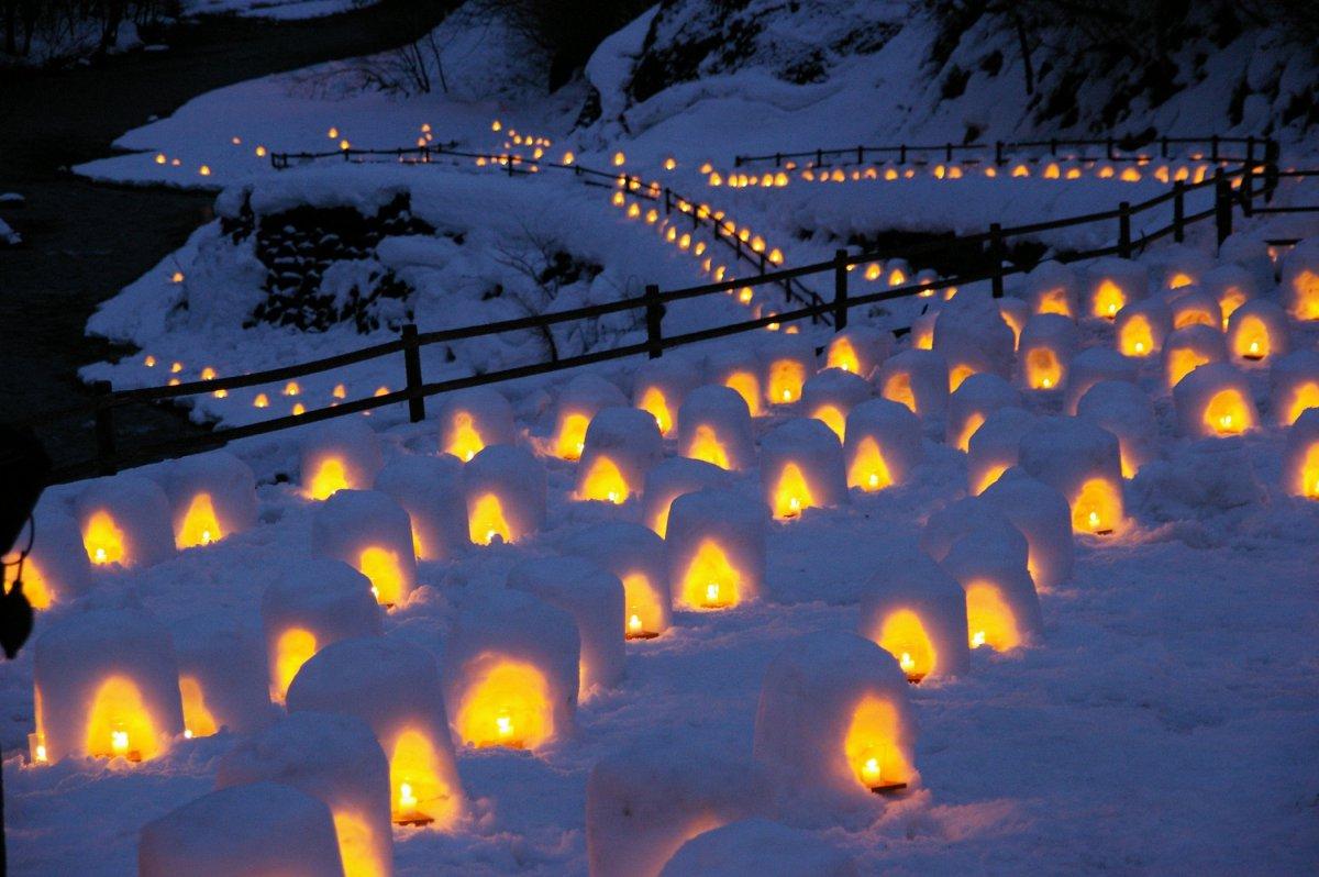 Yunishikawa snow festival