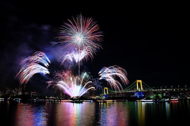 rainbow bridge fireworks