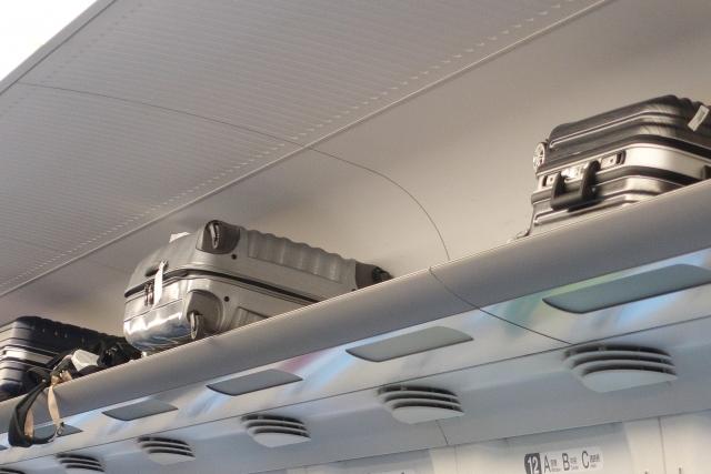Shinkansen overhead luggage