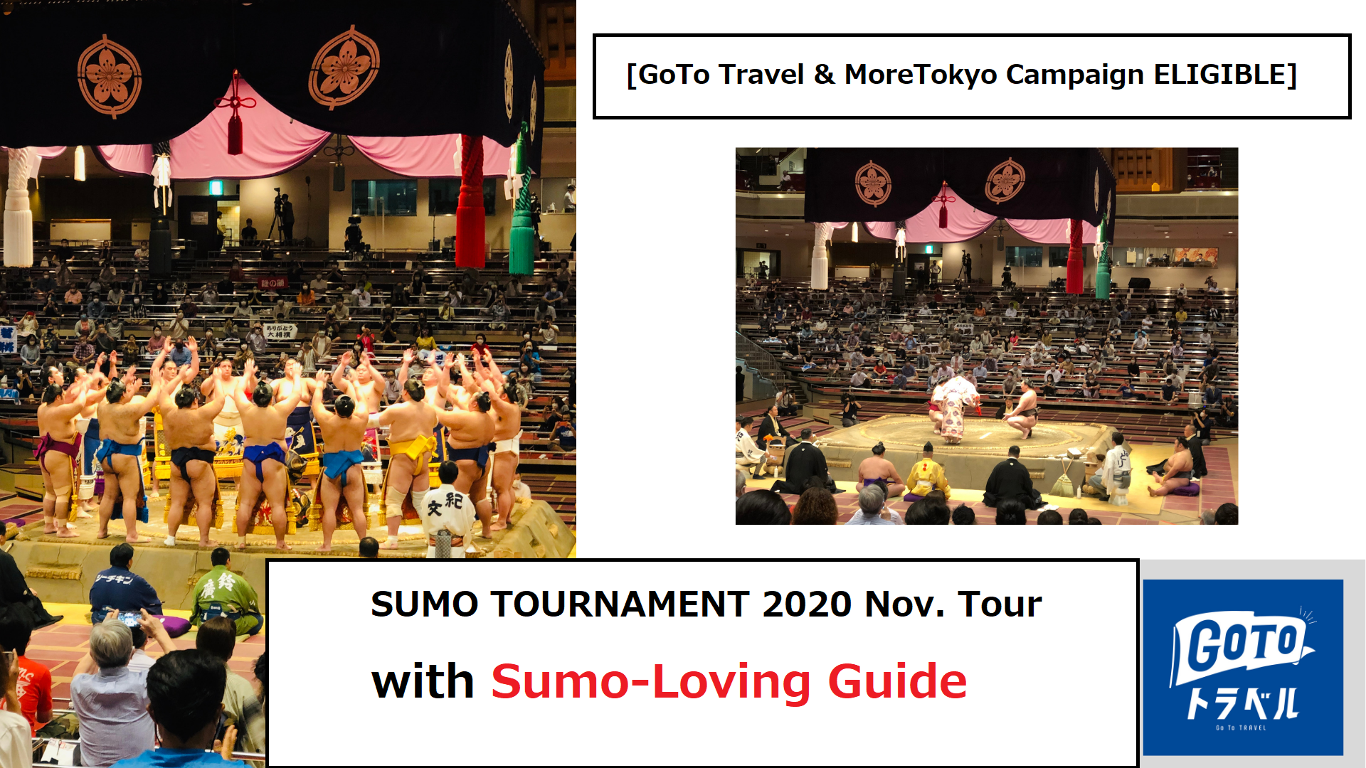 SUMO TOURNAMENT 2020 Nov. Tour with Sumo-Loving Guide [GoTo Travel & MoreTokyo Campaign ELIGIBLE]