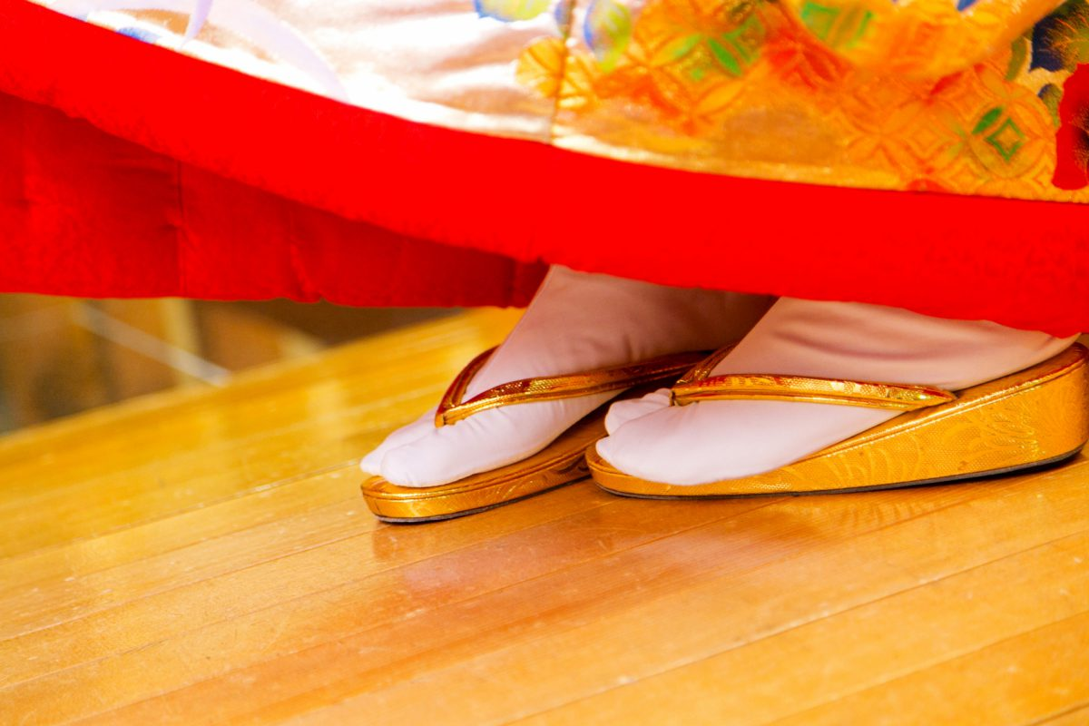 Zori shoes traditional clothing