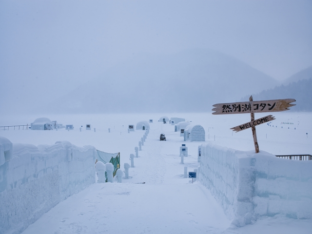 snow hut festival lake shikaribetsu kotan