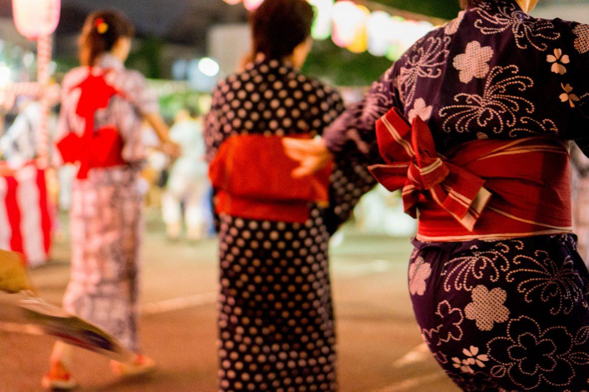 bon odori in japan