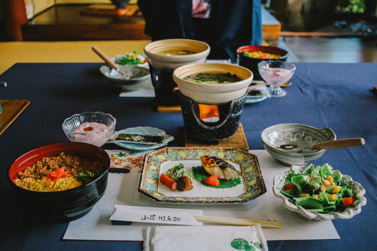 Japanese food ryokan