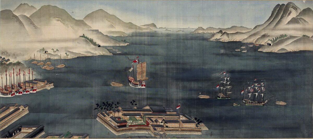 Dejima Nagasaki bay