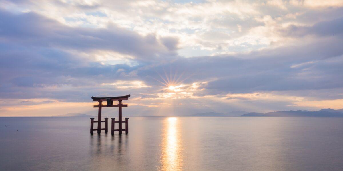 Lake biwa Shirahige shrine
